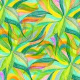 Abstrakt bakgrund för färgblyertspennaattraktion Royaltyfri Fotografi