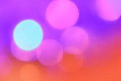 Abstrakt bakgrund för färgrik jul med bokehljus Royaltyfri Bild