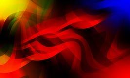 Abstrakt bakgrund för färgrik våg med belysningeffekt som är slät, kurva, vektorillustration stock illustrationer