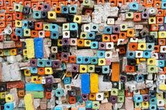 Abstrakt bakgrund för färgrika för kvarter modeller för keramiska tegelplattor Royaltyfria Foton