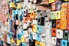 Abstrakt bakgrund för färgrika för kvarter modeller för keramiska tegelplattor Royaltyfri Foto