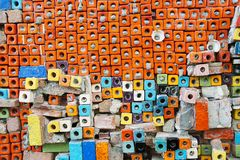 Abstrakt bakgrund för färgrika för kvarter modeller för keramiska tegelplattor Arkivbild