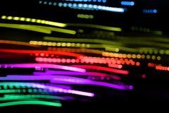 Abstrakt bakgrund för färgrika lampor Royaltyfria Bilder