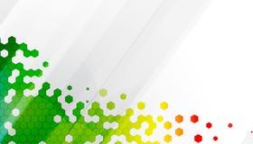 Abstrakt bakgrund för färgsexhörningsteknologi Royaltyfri Fotografi