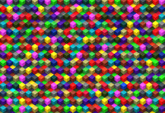 Abstrakt bakgrund för flerfärgade kuber Arkivbilder