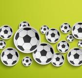 Abstrakt bakgrund för fotboll. Arkivbilder