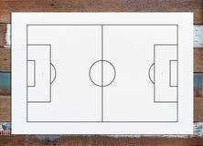 Abstrakt bakgrund för fotbollfältet eller för fotbollfältet för skapar så Arkivfoton