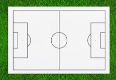Abstrakt bakgrund för fotbollfältet eller för fotbollfältet för skapar så Royaltyfria Bilder