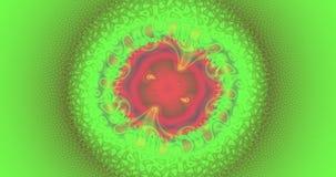 Abstrakt bakgrund för fractal 4k med en detaljerad rörande pulserar rund modell med ett detaljerat plast- krabbt raster som omger royaltyfri illustrationer