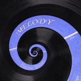 Abstrakt bakgrund för fractal för spiral för musikvinyldiskett Retro fractal för abstrakt begrepp för musikvinyldiskett Musikalis Arkivbilder