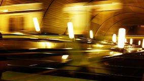 Abstrakt bakgrund för gångtunnel Arkivbild