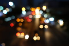 Abstrakt bakgrund för gataljus Royaltyfri Foto