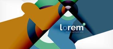 Abstrakt bakgrund för geometrisk färgrik formsammansättning Minsta dynamisk design royaltyfri illustrationer