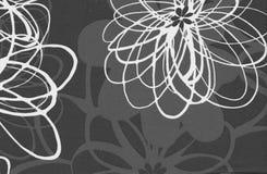 Abstrakt bakgrund för gråa och vita blommor Arkivfoton