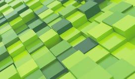 Abstrakt bakgrund för gröna kvarter vektor illustrationer