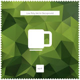 Abstrakt bakgrund för grönt te för vektor polygonal Royaltyfria Bilder