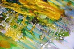 Abstrakt bakgrund för guld- målningkontraster Royaltyfri Fotografi
