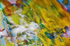 Abstrakt bakgrund för guld- mousserande målningkontraster Fotografering för Bildbyråer
