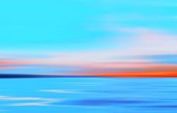 Abstrakt bakgrund för hav för ljus för rörelse suddig kulör Royaltyfria Bilder