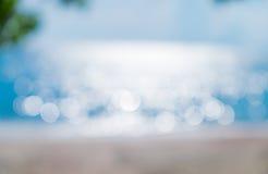 Abstrakt bakgrund för havsbokehsuddighet Royaltyfri Fotografi