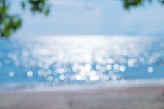 Abstrakt bakgrund för havsbokehsuddighet Arkivfoto