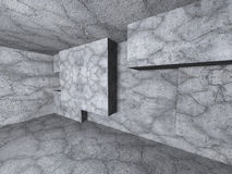 Abstrakt bakgrund för inre för arkitekturbetongväggrum Arkivfoto