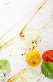 Abstrakt bakgrund för italiensk kokkonst Arkivbilder