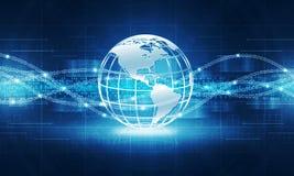 Abstrakt bakgrund för jordklotteknologiinternetuppkoppling royaltyfri bild