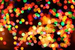 Abstrakt bakgrund för jullampor Royaltyfri Bild