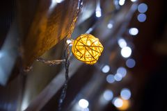 Abstrakt bakgrund för julljus, bokeh Beröm Royaltyfri Bild