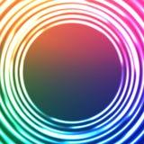 Abstrakt bakgrund för ljuscirklar. Stjärn- vektor Royaltyfri Bild