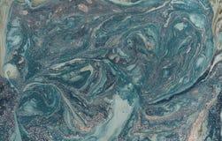 Abstrakt bakgrund för marmor med guld- pulver green låter vara naturmodelltextur Royaltyfri Bild