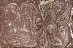 Abstrakt bakgrund för marmor med guld- pulver Natur som marmorerar textur Arkivbilder