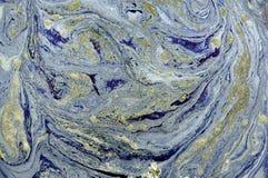 Abstrakt bakgrund för marmor med guld- pulver Natur som marmorerar textur Arkivbild