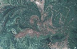 Abstrakt bakgrund för marmor med guld- pulver Natur som marmorerar textur Fotografering för Bildbyråer