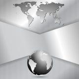 Abstrakt bakgrund för metalltechvektor Arkivbild