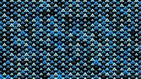 Abstrakt bakgrund för modellblåtttrianglar stock video