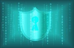 Abstrakt bakgrund för nätverk för teknologi för digitala data för säkerhetstangentcyber arkivbilder