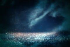 Abstrakt bakgrund för nattutrymmehimmel Arkivbild