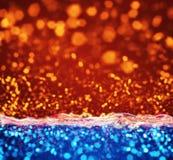 Abstrakt bakgrund för orange blåa lampor royaltyfri illustrationer