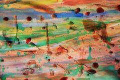 Abstrakt bakgrund för orange former med vaxartade fläckar Royaltyfri Bild