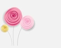 Abstrakt bakgrund för pappers- blomma också vektor för coreldrawillustration stock illustrationer