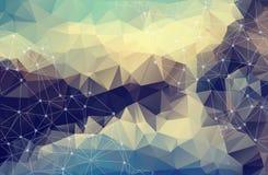 Abstrakt bakgrund för pastell för vektorutrymme Kaotiskt förbindelsep stock illustrationer