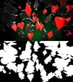 Abstrakt bakgrund för pokerdräkter Royaltyfria Foton