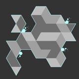 Abstrakt bakgrund för polygon Royaltyfri Bild