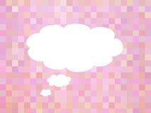Abstrakt bakgrund för rosa färger med utrymme Stock Illustrationer
