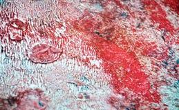 Abstrakt bakgrund för rosa vit blå silver, vattenfärgakryl som målar abstrakt bakgrund arkivfoton