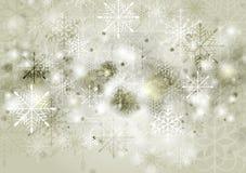 Abstrakt bakgrund för sepiavektorjul Royaltyfri Fotografi