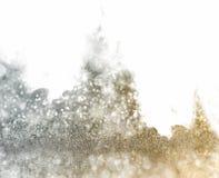Abstrakt bakgrund för silver och för guld Fotografering för Bildbyråer