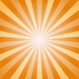 Abstrakt bakgrund för solljus Orange och guld- bakgrund för färgbristning också vektor för coreldrawillustration Solstrålstråle Royaltyfri Fotografi